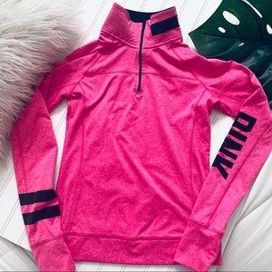 Pink by Victoria Secret sweater in pink half zip *